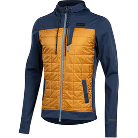 PEARL iZUMi Versa Quilted Sudadera con capucha Hombre, navy/berm brown